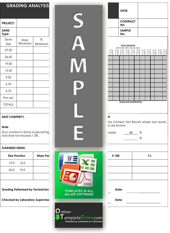 Grading Analysis Quality Control Templates Pinterest - submittal transmittal form