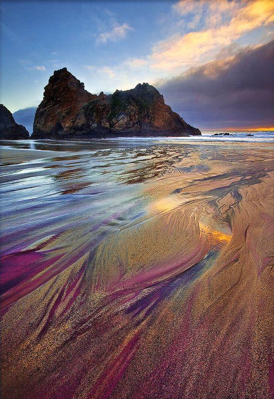 The Most Exotic Beaches In The World   Pfeiffer Purple Sand Beach   California, USA  Travel