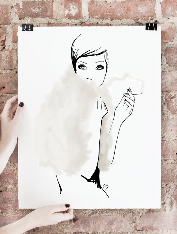 THE LAST SMOKE Limited edition of 75 signed art prints. $400.00