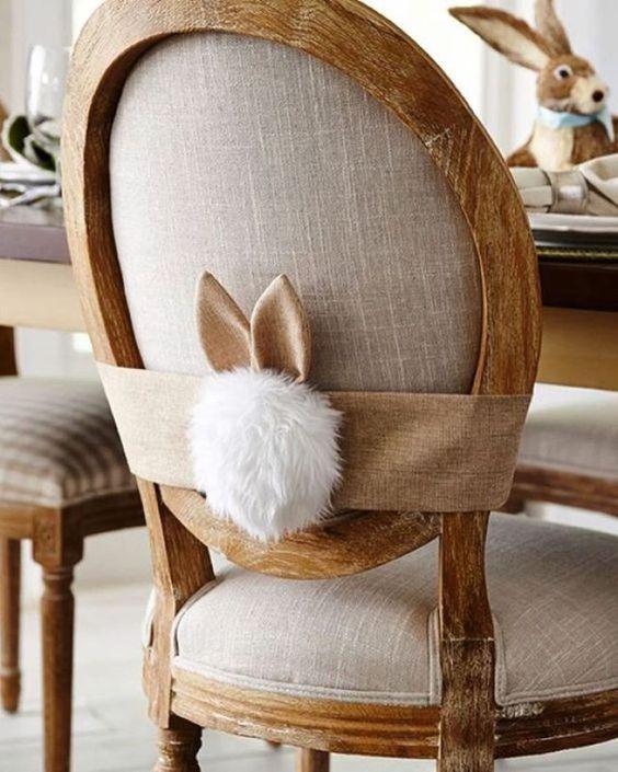 enfeite de cadeira de Páscoa