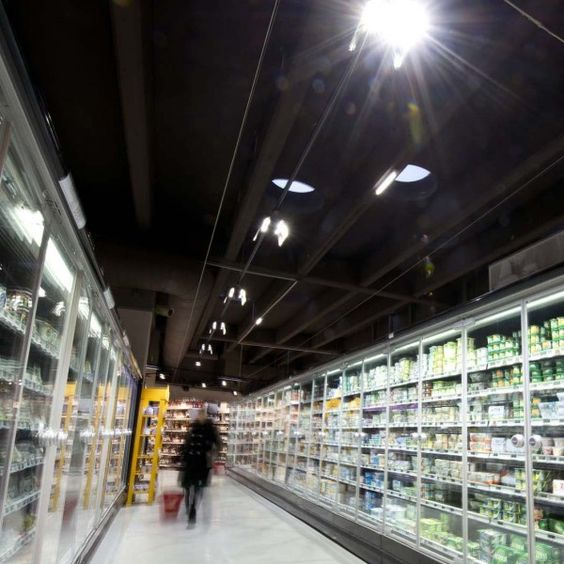 eclairage led dun supermarch rayon frais