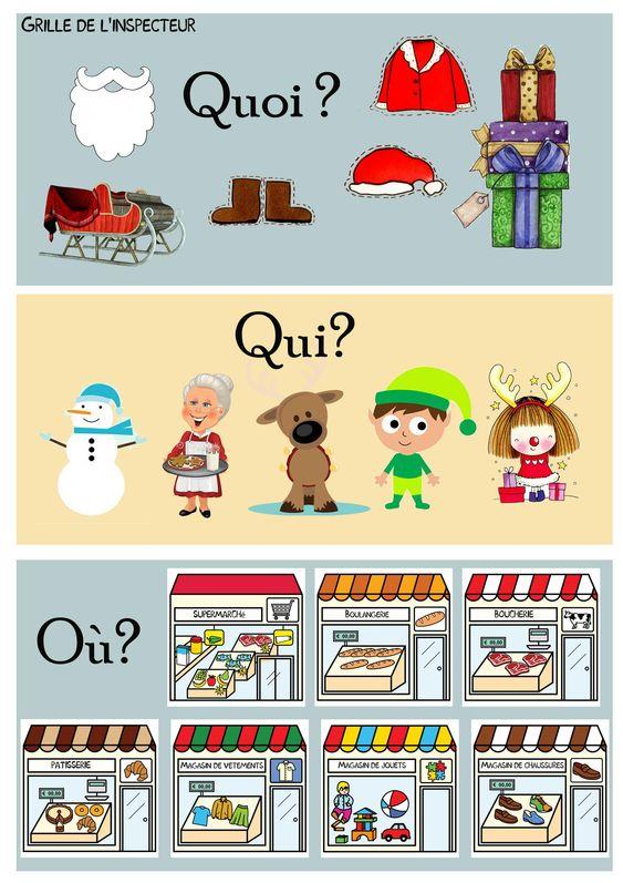 Le grand cluedo de Noël: Jeu pour travailler le vocabulaire de Noël et les magasins.                                                                                                                                                                                 Plus: