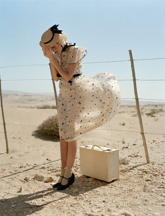 What a whimsical photo - love the details!  Photo by Tim Walker