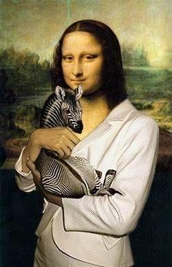 Monday Mona Madness  Mona Zebra                      Do not ask,this one I cannot explain !