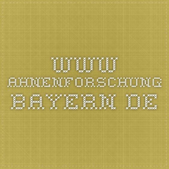 www.ahnenforschung-bayern.de