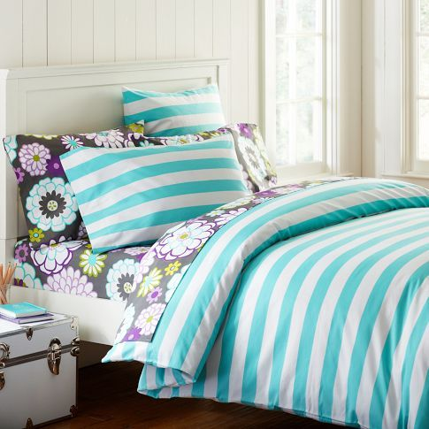 The cheerful Cottage Stripe Duvet Cover
