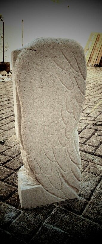 Wing Statue Sculpture Ytong Stone By Hellyh Modern Art