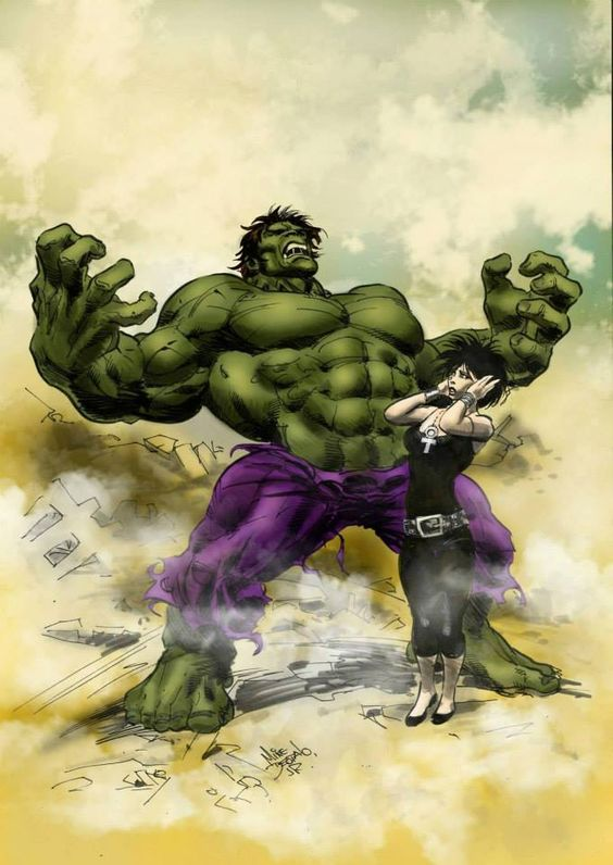The Hulk and Death by Mike Deodato Jr. *