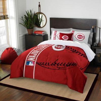 Mlb Cincinnati Reds Embroidered Comforter Set