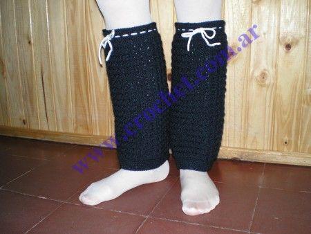 Polainas de lana tejidas a crochet