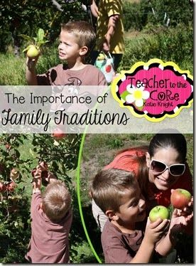 The Importance of Family Traditions from Teacher to the Core
