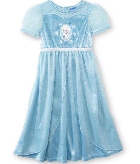 Disney NWT Girls/' Sz 2T Blue Frozen Elsa Fantasy Nightgown Dress Up Costume New