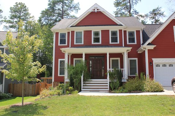 Another example of the red siding we are getting.