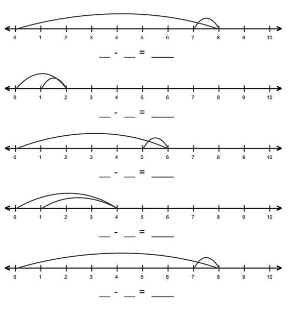 math worksheet : first grade number line math worksheet  little thinkers  : Number Line Math Worksheets