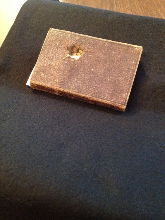 Who says archives are boring? Today teachers looked at the George T. Howard Civil War Diary in our Manuscripts and Archives Collection - complete with a bullet hole from Civil War combat! http://on.nypl.org/19vuIbU #TeachNYPL #CivilWar