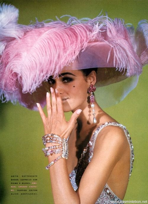 "80s-90s-supermodels:""Eccletismi E Fantasie, Vogue Italy, September 1990Photographer : Steven KleinModel : Yasmin Le Bon"