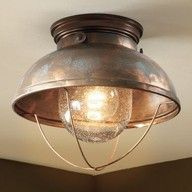 Lighting from Cabela's! $39!! Just the perfect rustic modern light I was looking for!