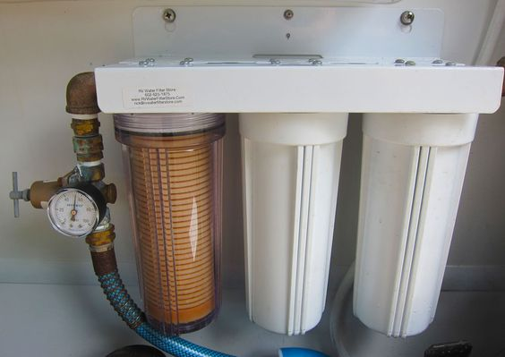 3 canister rv water filtration systems