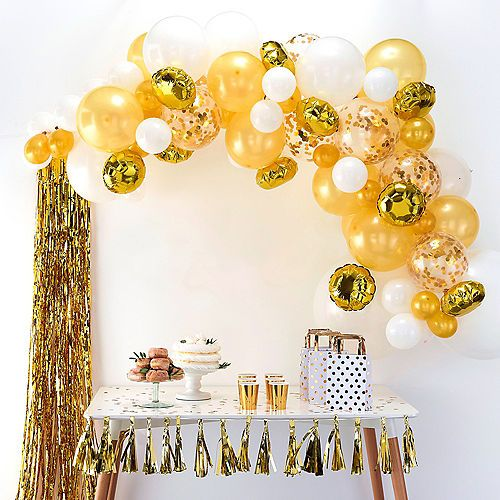 Ginger Ray Gold Balloon Arch Kit 72pc Party City Gold Balloons