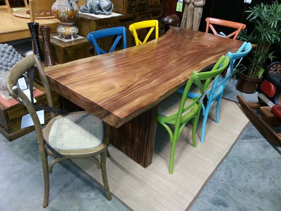 This Slab Dining Table Is Over 4 Quot Thick One Solid Tree