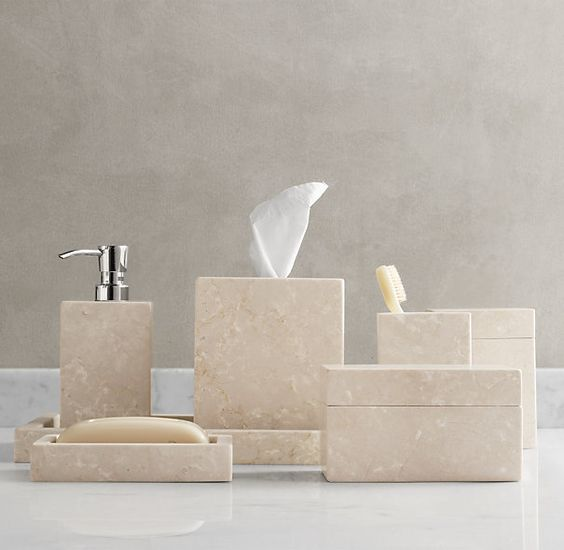 Restoration Hardware Stone Bath Furnishings Set I Haven 39 T This In Person Yet 3 Country