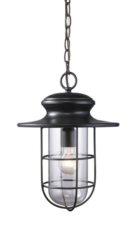 Portside 1 Light Outdoor Pendant Front Porch Black Outdoor Pendant Outdoor Hanging Lights Outdoor Pendant Lighting