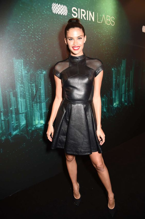 Sara Sampaio attends Sirin Labs VIP launch party