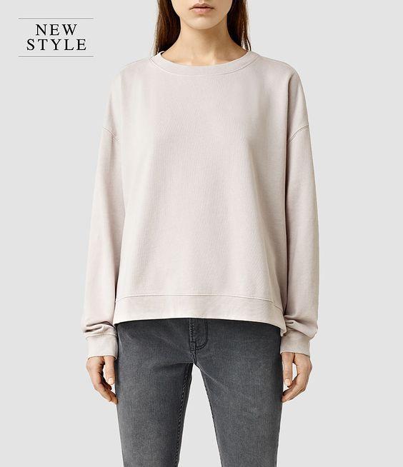 Shopping Selection : Womens Lo Crew Sweatshirt (Windchime Grey) - product_image_alt_text_1
