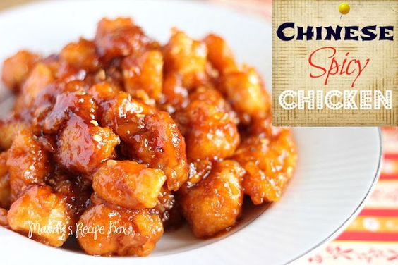 Chinese Spicy Chicken on Mandy's Recipe Box.