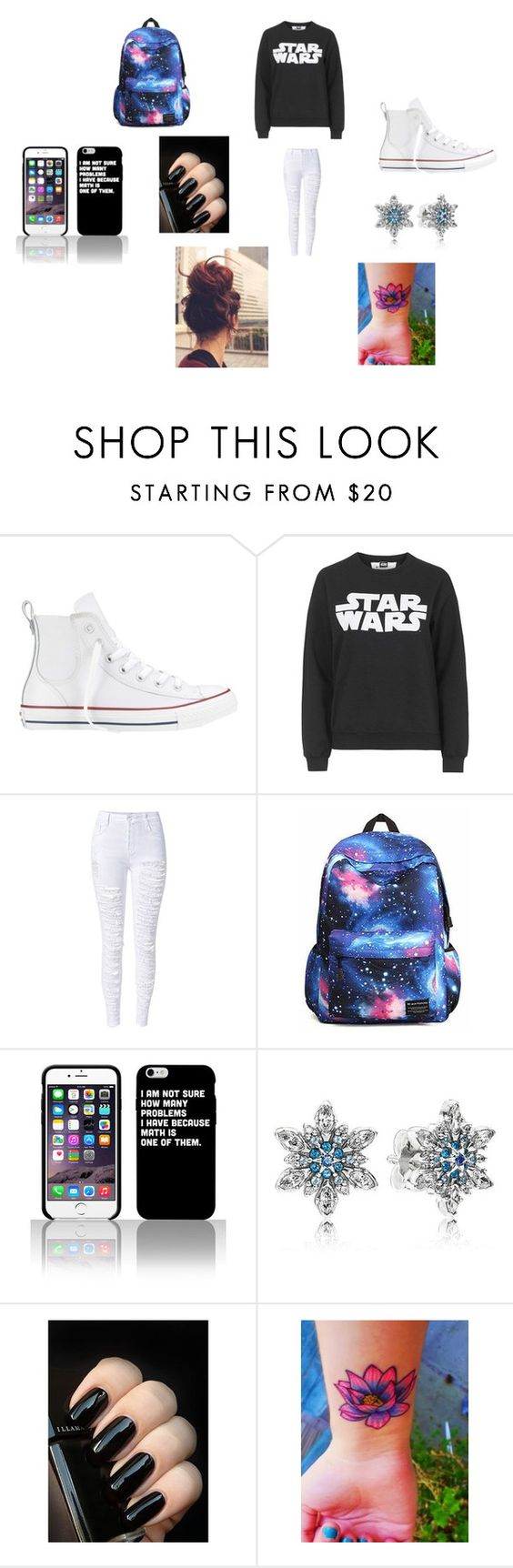 """""""Untitled #146"""" by fanfic-obsesser on Polyvore featuring Converse, Tee and Cake and Pandora"""