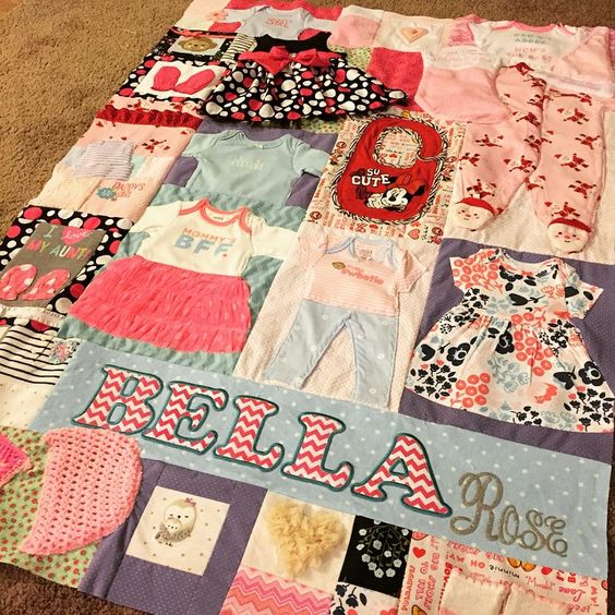 THIS QUILT Baby Memory Quilt DIY Tutorial - made from onesies, bibs, and sleepers! Unique, one of a kind, baby gift. Super easy, easy to follow instructions. Customized to your baby's personal style!