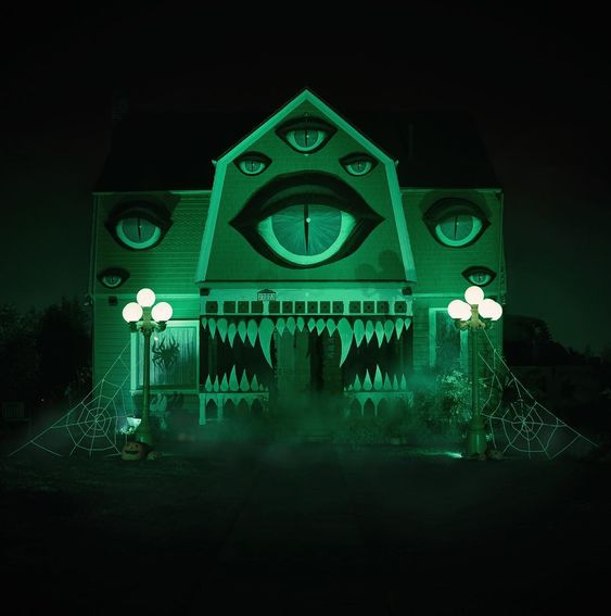 Every year Christine McConell decorates her parents' house for Halloween. This year, she transformed it into a Monster House.