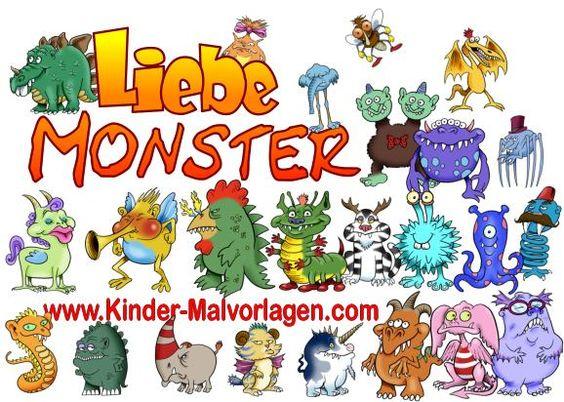 Liebe Monster ausmalen   Malvorlagen-Ausmalbilder   Pinterest ...