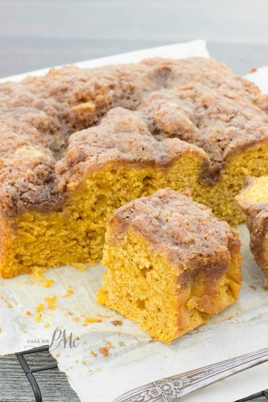 Easy Buttermilk Pumpkin Coffee Cake With Brown Sugar Streusel Recipe Is Loaded With Pumpkin And Top Pumpkin Coffee Cakes Buttermilk Recipes Coffee Cake Recipes