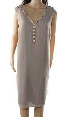 S.L Fashions NEW Beige Women's Size 22W Plus Shift Embellished Dress $119 #266 | eBay