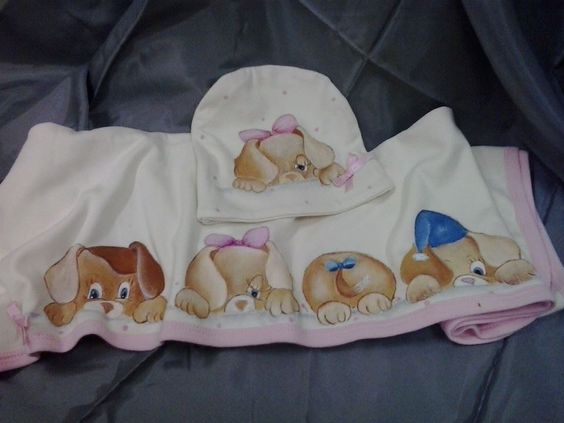 Conjunto bebé pintado