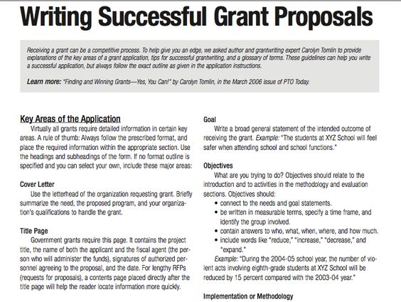 how to write a grant template