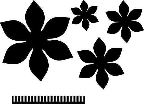 4 Layer Flower With Center Flower Svg Files Felt Flower Template Flower Template