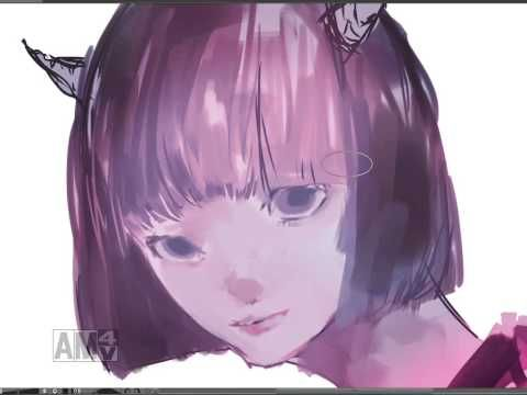 [Speed paint]厚塗りメイキング #1[CLIP Studio Paint]