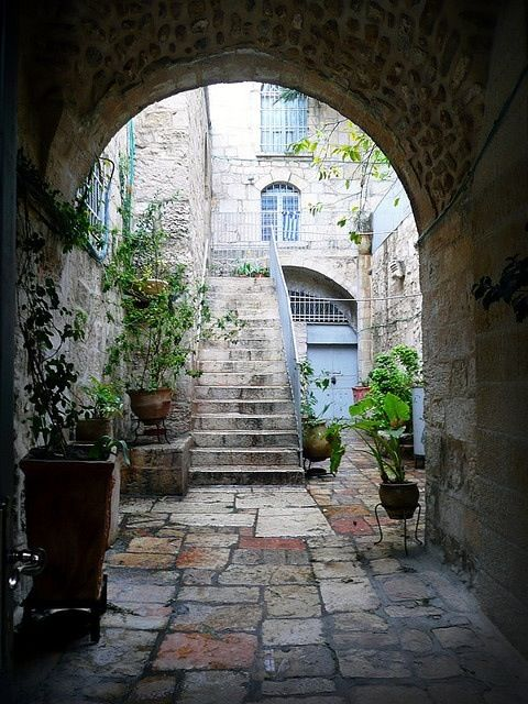 residential street in the Old City, very near the Kotel