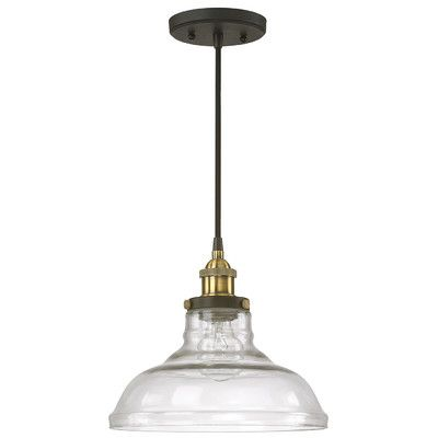 Features:  -Number of lights: 1.  -Finish: Bronze and brass.  -Style: Urban…