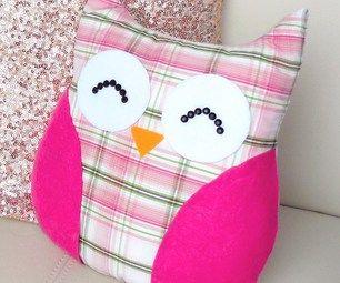DIY ROOM DECOR ❤ Easy owl Pillow! (Sew/no sew) #decoration