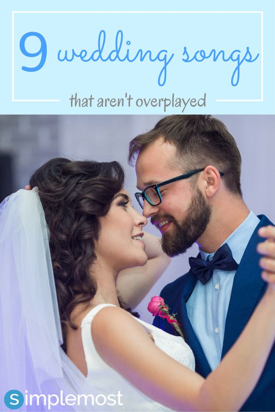 Saying 'I do' are the two most important words to say, so why not say 'I do' to your perfect wedding song.  Check out these 9 amazing wedding songs that aren't over played. https://www.simplemost.com/?p=22656?utm_source=pinterest&utm_medium=referral&utm_campaign=organic
