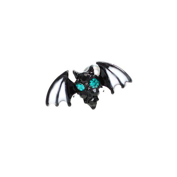 16G Rare Green Eye Bat Body Piercing Jewelry 6mm, 16g (1.2 mm), Bars & Barbell #BodyJewelry