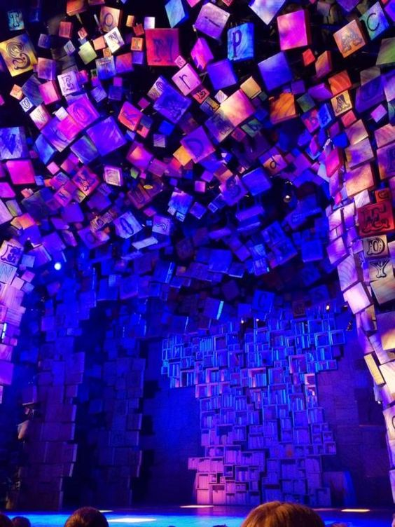 "The stage for ""Matilda the Musical"" ~ Desperately want to see this show!"