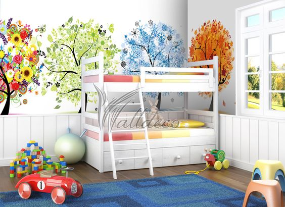 Wall mural for nursery - http://art-murals.ca/