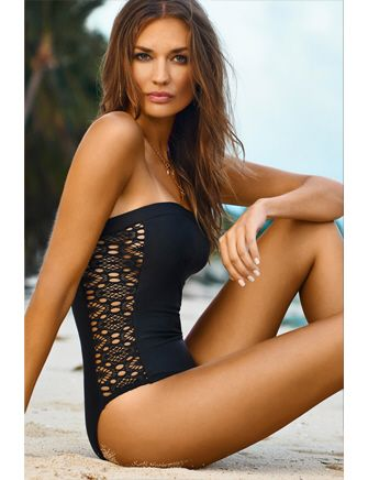 PilyQ One Piece Lace Diva Strapless One Piece