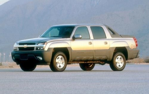 The 2002 Chevrolet Avalanche. Great thought, and they ended up making it look much better. But whoever designed this must have also designed the Pontiac Aztec. I bet they're fired.