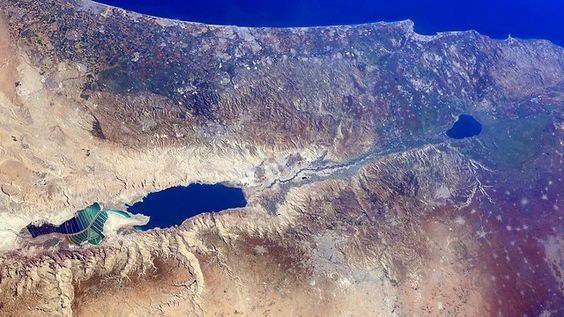 Amazing photo of Israel from space. Photo credited to Barry Wilmore, NASA astronaut.