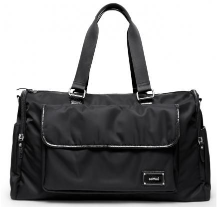 "OOYOO diaper bag ""Labor of Love"" black noir large duffel - front view"